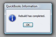 QuickBooks Premier 2009 Rebuild Complete
