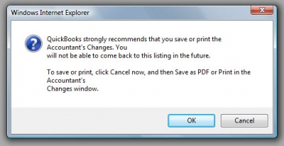 QuickBooks Accountants Copy Print Caution