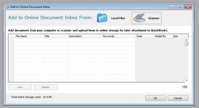 QuickBooks 2011 Online Document Inbox
