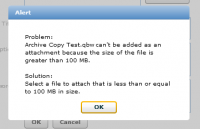 QuickBooks Attached Documents 100 MB Limit Warning