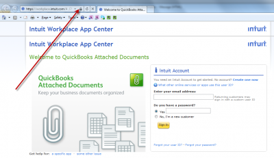 QuickBooks Attached Documents Secure Sign In